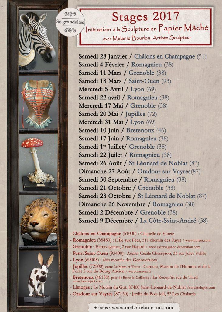 Marie-Laure Cathelin, www.mlcat.com, infographie, Affiche, A2, mélanie bourlon, papier mâché, stages, 2017, maquette